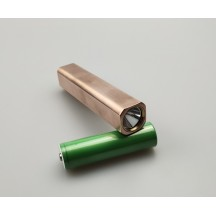 Copper / Brass 18650 Cube Flashlight